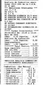 revisión per caldera junkers2014b