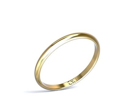 Alianzas de boda en oro de 18 k