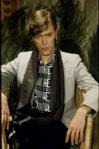 THE SINGER DAVID BOWIE IN PARIS