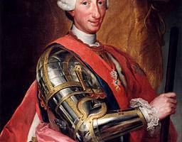 Carlos III. Imagen by Raphael Mengs.
