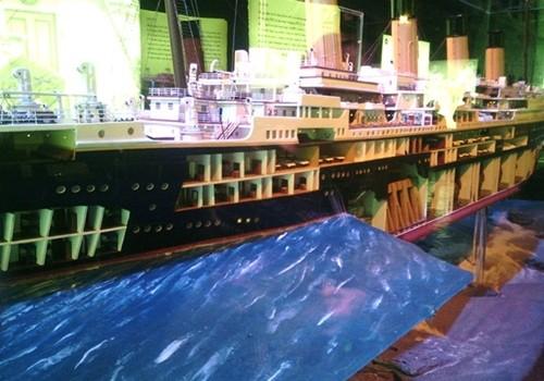 "Maqueta del Titanic. ""Ttitanic: The Exhibition""."