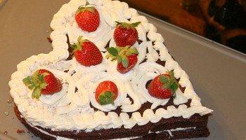 Corazón de chocolate: pastel de San Valentin