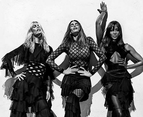 Las top models de los 90, Cindy, Naomi y Claudia, juntas de nuevo