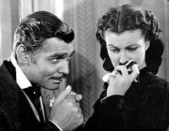 Clark Gable y Vivien Leigh en Lo que el viento se llevó. Imagen by Insomnia Cured Here.