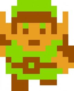 Link in The Legend of Zelda de 1986