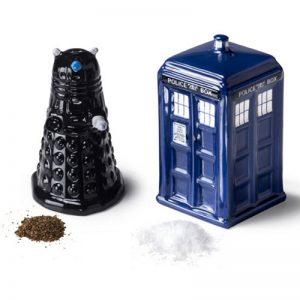 Tardis y Dalek sal y pimienta