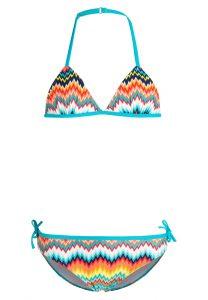 Bikini niña multicolor, gama azules