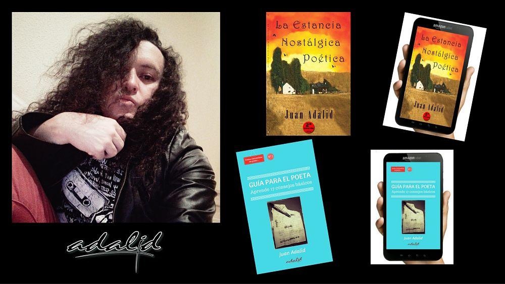 Obras del poeta y periodista Juan Adalid