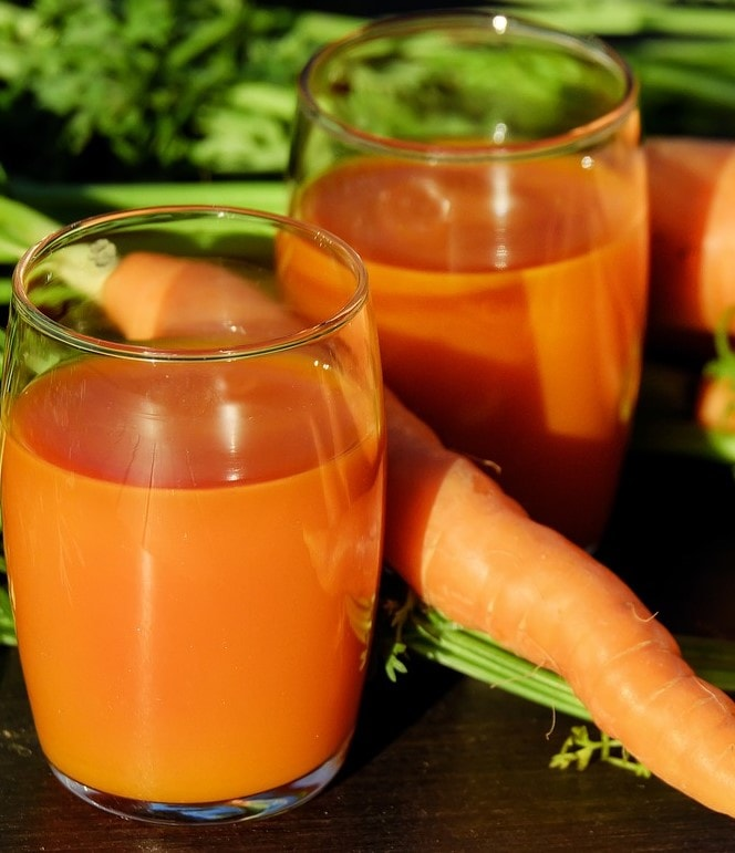 Beneficios de los zumos naturales a base de zanahorias