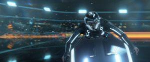Escena de moto de Tron Legacy