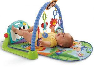 manta de actividades de fisher price para bebés piano pataditas