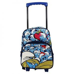mochilas con ruedas de los pitufos