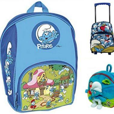 mochilas infantiles de los pitufos