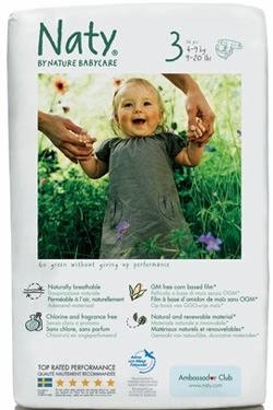 Pañales ecológicos Naty: desechables, sin derivados del petróleo y libres de cloro
