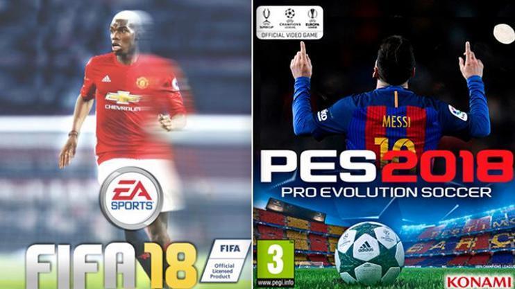 FIFA 18 y PES 2018