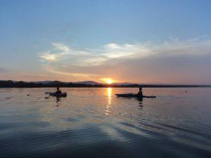 Aventura en kayac rodeando las isletas por el lago Cocibolca