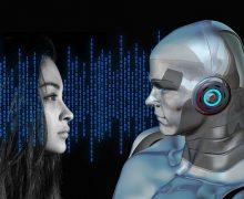 Mujer y robot