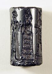 Sello cilíndrico de Babilonia