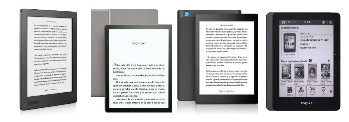 Los mejores ereader de pantalla grande: lectores de ebooks de 7 a 9 pulgadas
