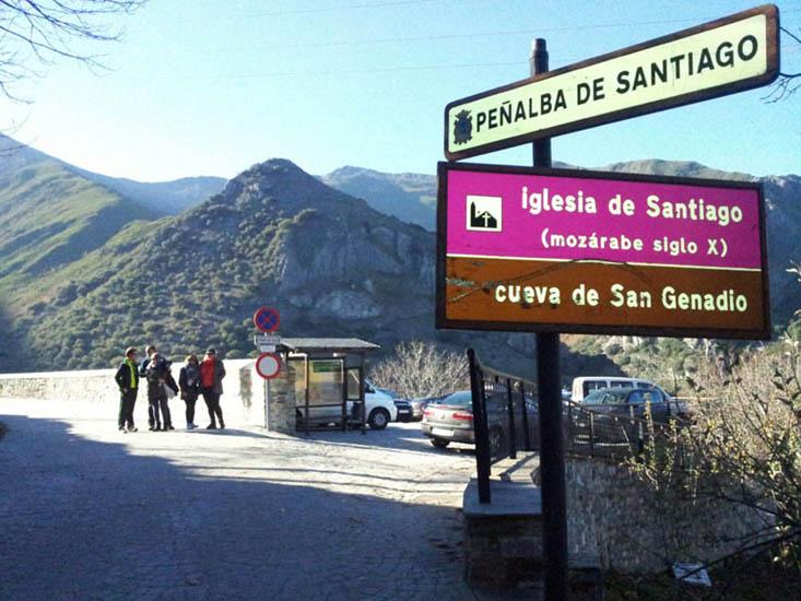 Peñalba de Santiago, aparcamiento y vistas