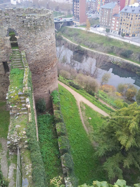 Vistas del Río Sil desde el Castillo Templario de Ponferrada
