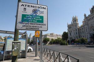 Los pictogramas se ubicarán en todos los accesos al área de Madrid Central