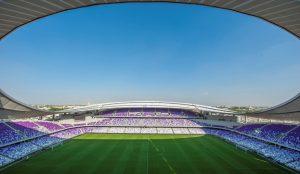 El estadio de Al Ain es la sede del equipo anfitrión,pariticipante en el Mundialito