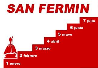 """Uno de enero, el primer peldaño de la """"Escalera de San Fermín"""""""